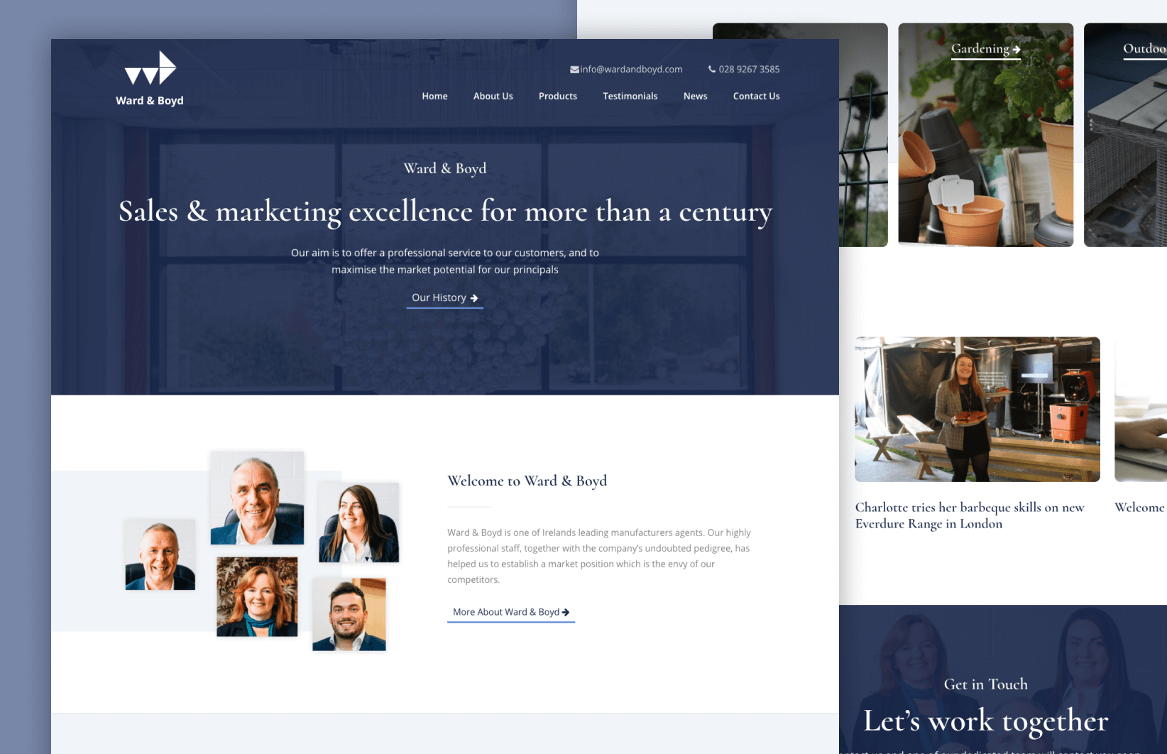 Ward & Boyd - Website Design
