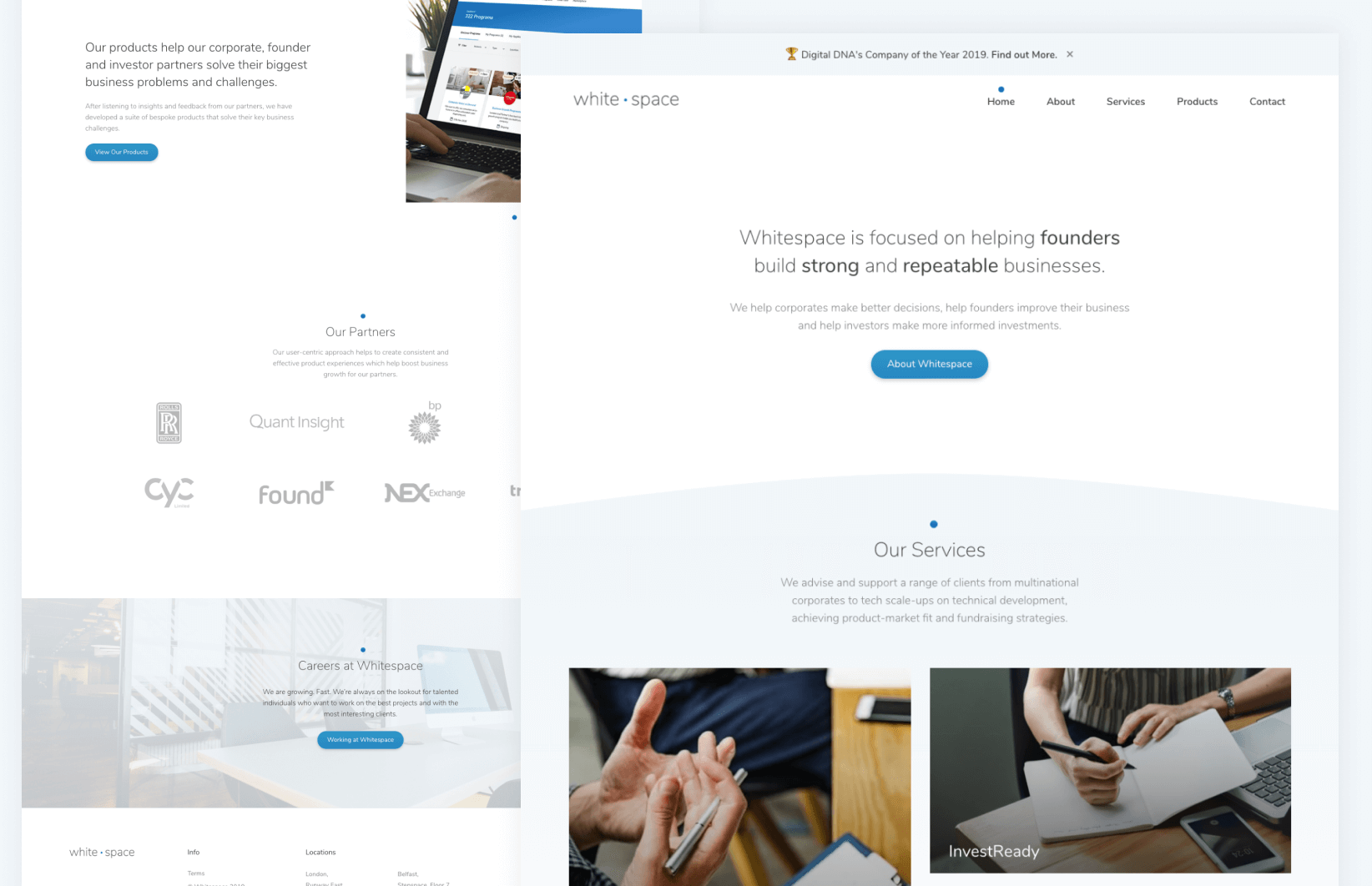 Whitespace - Website interface designs